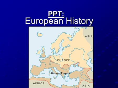 European History PPT:. Began in the 1500s and was a movement to correct problems in the Catholic Church. Christians break away from the Catholic Church.