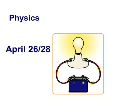 April 26/28 Physics. Table of Contents #. Date Title-Page – Page Number 29.April 14/15 Electrostatics 30.April 18/19 Electric Field 31.April 20/21 Electrostatics.