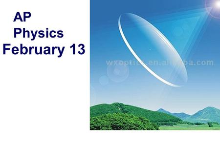 February 13 AP Physics. Pay for AP Exam!. In: If a clear liquid has a refractive index of 1.45 and a transparent solid has an index of 2.90 then, for.