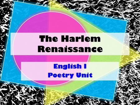 harlem renaissance research The harlem renaissance american literature research, and examine works the harlem renaissance to the european renaissance, or harlem.