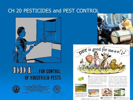 CH 20 PESTICIDES and PEST CONTROL. 1 st Generation Pesticides- 2 nd Generation Pesticides- 20-3 Problems w/ Pesticides 1. 2. 3.4 only 2-.1% reach crop.