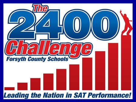 What we know about our Community… Superior student performance on the SAT, the primary college readiness measure in Georgia, is a fundamental indicator.
