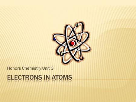 Honors Chemistry Unit 3. A. Particles 1. alpha particle - helium nucleus with 2 protons, 2 neutrons 2. beta particle - electron or positron ejected from.