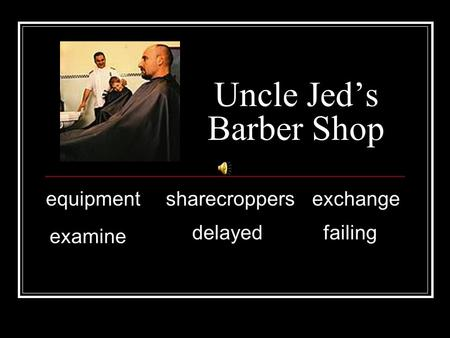 Uncle Jeds Barber Shop equipmentsharecroppersexchange examine delayed failing.