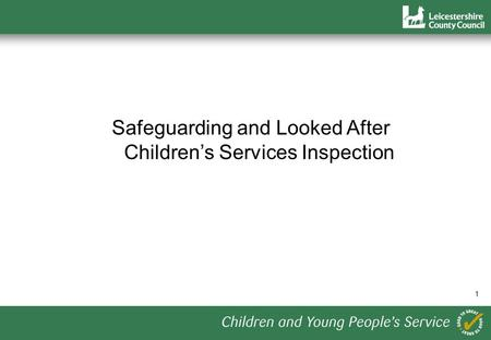 1 Safeguarding and Looked After Childrens Services Inspection.