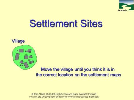 Settlement Sites Village Move the village until you think it is in