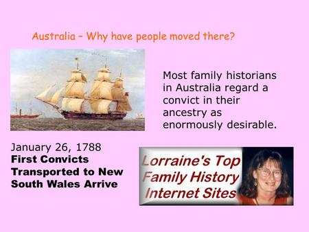 Australia – Why have people moved there?