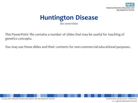 Huntington Disease An overview