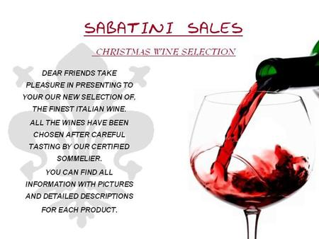 SABATINES SALES. WINE list BAROLO BARBARESCO BARBERA.