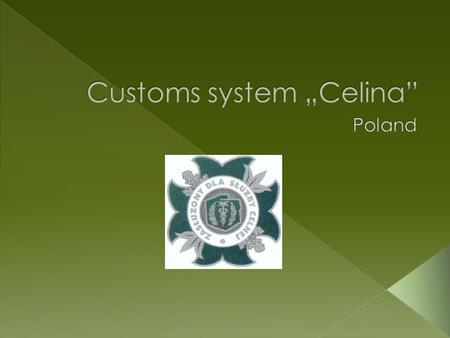 Roles and responsibilities The principal roles of the Customs Service include: · exercising customs control on the commercial international exchange ·
