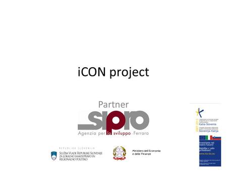 ICON project Partner Ministero dell'Economia e delle Finanze.