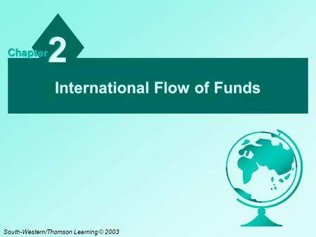 International Flow of Funds 2 2 Chapter South-Western/Thomson Learning © 2003.