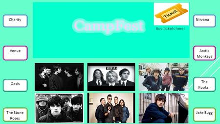 Charity Venue Oasis The Stone Roses Nirvana Arctic Monkeys The Kooks3 Jake Bugg Buy tickets here!