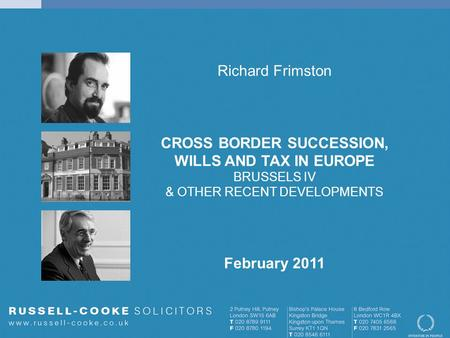 CROSS BORDER SUCCESSION,
