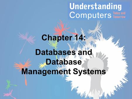 Chapter 14: Databases and Database Management Systems.