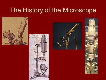 The History of the Microscope. Circa 1000AD – The first vision aid was invented (inventor unknown- possibly a monk) called a reading stone. It was a glass.
