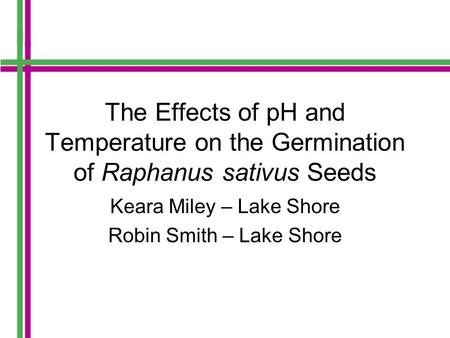 experiment on relationship between acid rain and the growth of germination on pea seeds Variables: independent, dependent, controlled august 25, 2011 by janice vancleave  or plant growth as well as the direction of plant growth in an experiment,.