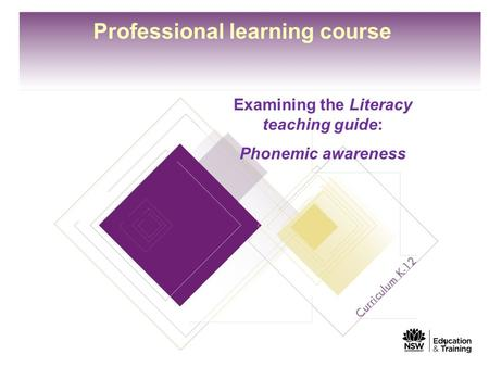 Professional learning course Examining the Literacy teaching guide: