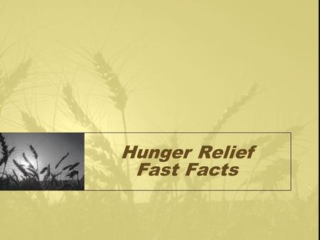 Hunger Relief Fast Facts. 15 million, or approximately 20 percent, of children in the United States live in poverty. According to USDA estimates, 9 million,