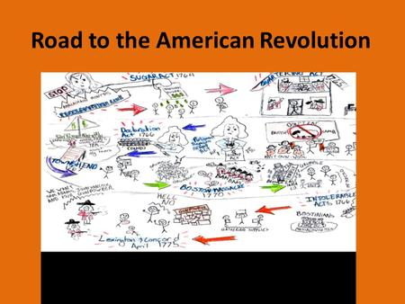 Road to the American Revolution The events that lead to the American Revolution.