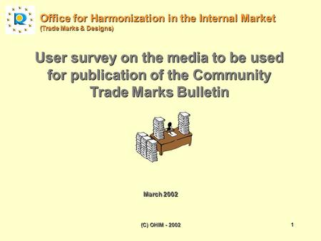 (C) OHIM - 20021 User survey on the media to be used for publication of the Community Trade Marks Bulletin Office for Harmonization in the Internal Market.