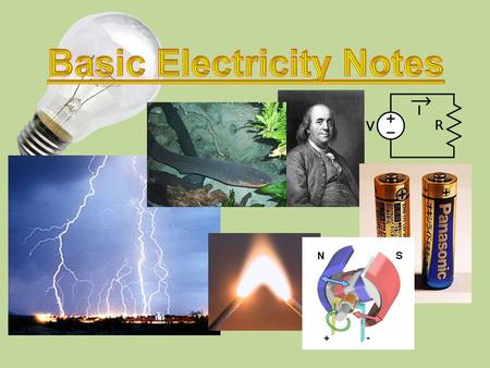 CURRENT ELECTRICITY The energy of moving charges (flow of electrons)