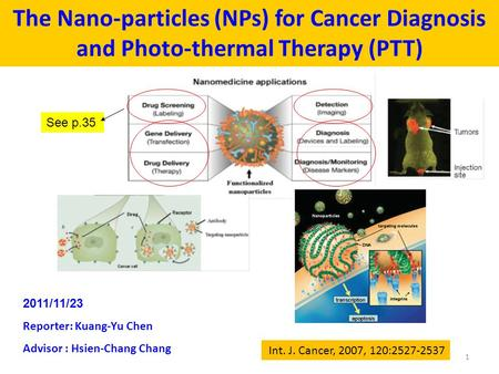 application of nanoparticles in cancer therapy