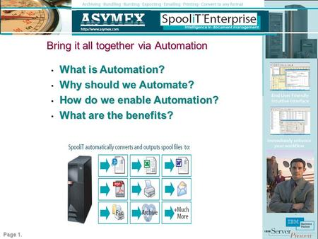 Bring it all together via Automation What is Automation? What is Automation? Why should we Automate? Why should we Automate? How do we enable Automation?
