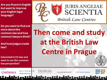 Are you fluent in English but want to improve your English legal language? Do you want to find out more about the common law and how common lawyers think?