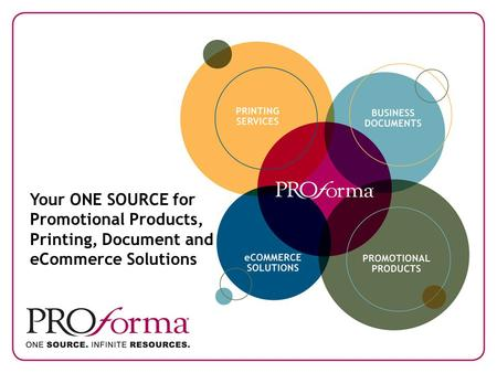 Your ONE SOURCE for Promotional Products, Printing, Document and eCommerce Solutions.
