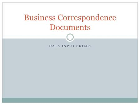 Business Correspondence Documents
