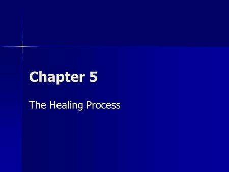 Chapter 5 The Healing Process. Overview Injuries to the musculoskeletal system can result from a wide variety of causes. Each of the major components.