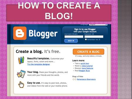 " What is a ""blog?"" Short for ""web log"" An online journal.  Allows for interaction between the writer and the readers through comments Includes articles,"