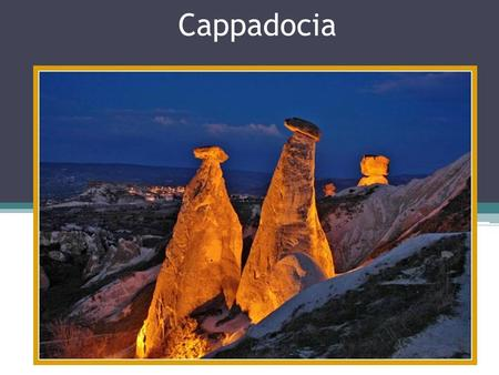 Cappadocia. Geography and climate Cappadocia lies in eastern Anatolia, in the center of what is now Turkey. The relief consists of a high plateau over.