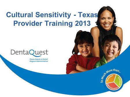 Cultural Sensitivity - Texas Provider Training 2013.