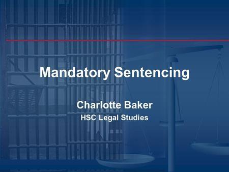mandatory sentencing essay