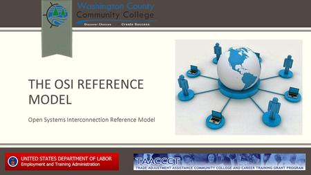 THE OSI REFERENCE MODEL Open Systems Interconnection Reference Model.
