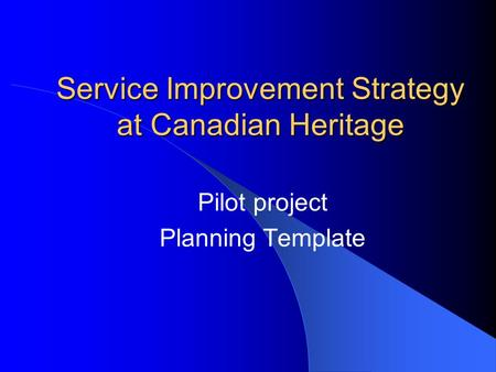 Key performance indicators workshop ppt download for Pilot project plan template
