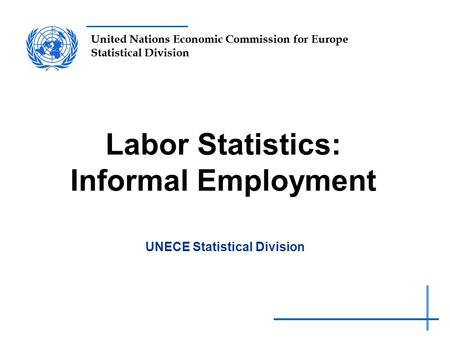United Nations Economic Commission for Europe Statistical Division Labor Statistics: Informal Employment UNECE Statistical Division.