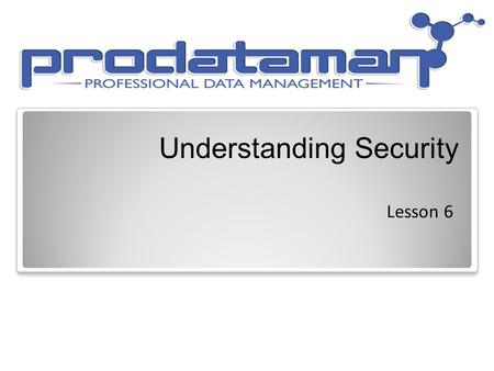 Understanding Security Lesson 6. Objective Domain Matrix Skills/ConceptsMTA Exam Objectives Understanding the System.Security Namespace Understand the.