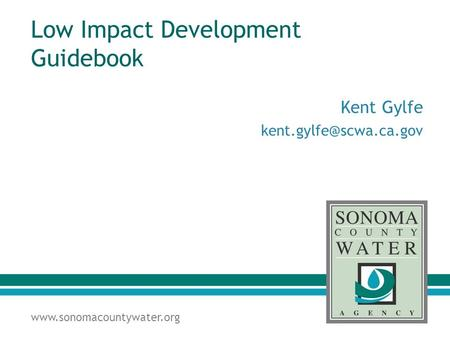 Low Impact Development Guidebook Kent Gylfe