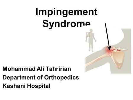 Mohammad Ali Tahririan Department of Orthopedics Kashani Hospital