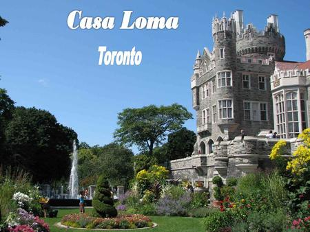 Casa Loma (Spanish for Hill House) is a Gothic Revival style house in midtown Toronto, Ontario, Canada, that is now a museum and landmark. It was.