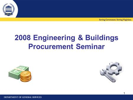 1 2008 Engineering & Buildings Procurement Seminar.