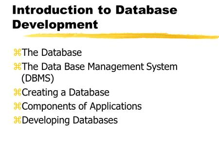 the implementation of a database management system