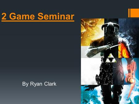 2 Game Seminar By Ryan Clark. StarCraft 2  RTS (Real time strategy) Set in the future on alien and colonized worlds.  Visually the game looks great.