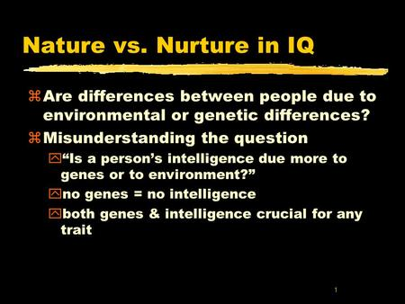 Nature vs. Nurture Theory: Is It In Our Genes or Our Environment?