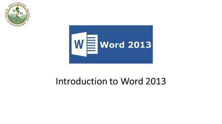 "Introduction to Word 2013 What new features does Word 2013 offer? Introducing the ""Landing Page"". Pinning/Unpinning recently used documents within the."