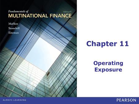 Chapter 11 Operating Exposure.