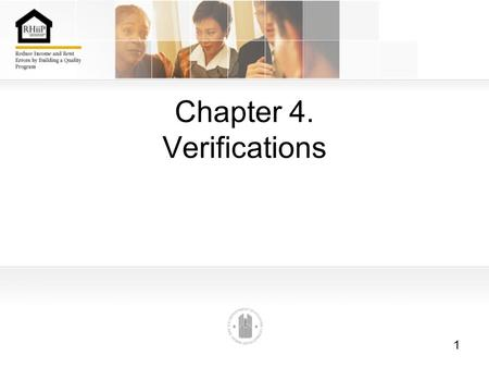 Chapter 4. Verifications
